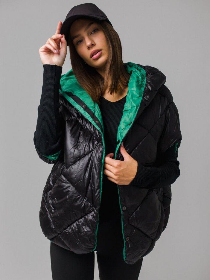 Zeleno-čierna vesta Iress