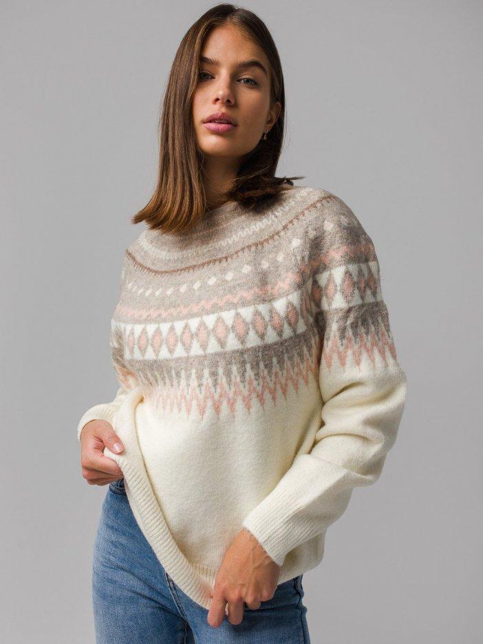 Béžový sveter Winter