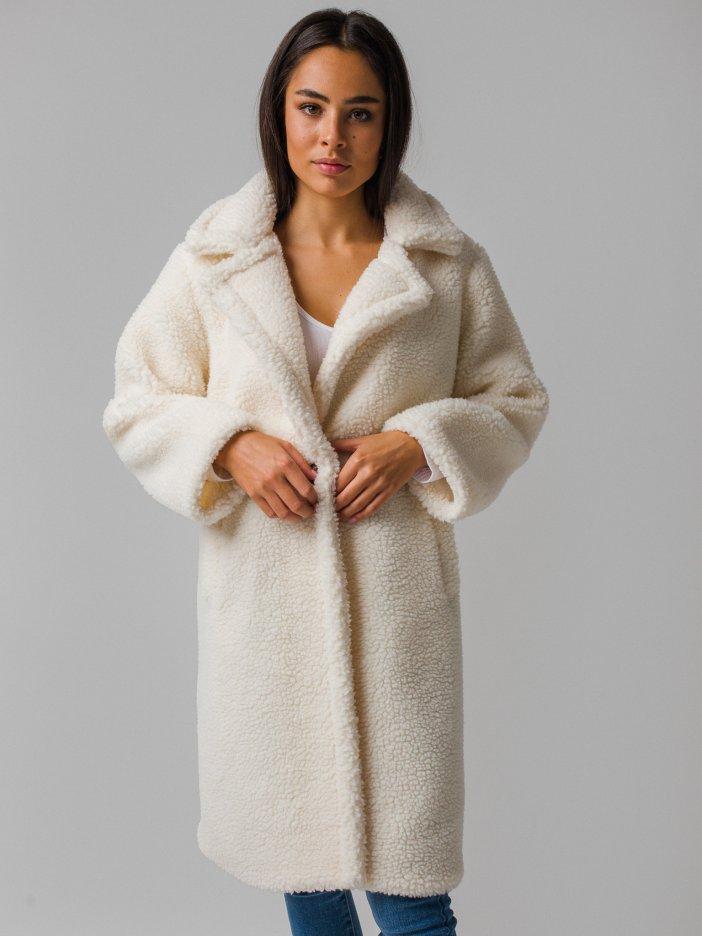 Biely teddy kabát Udinne