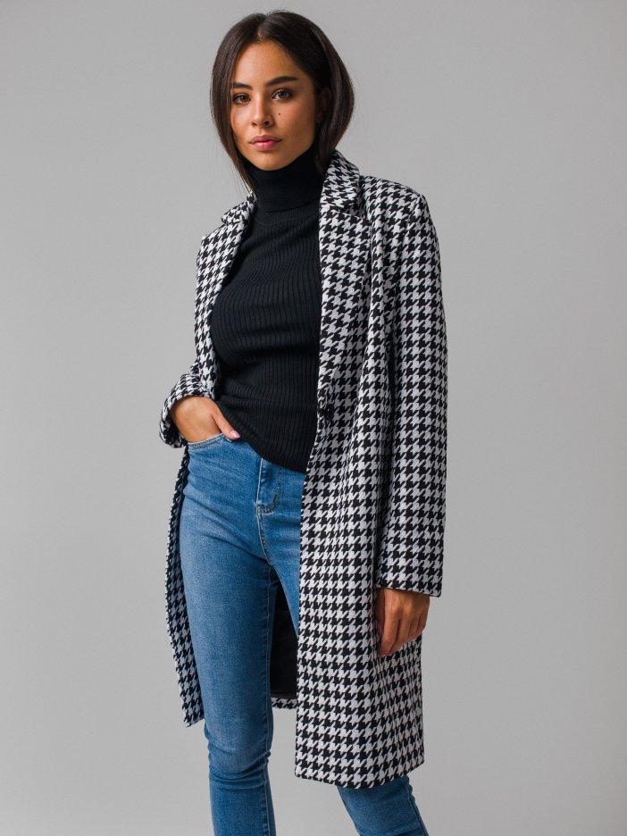 Čierno-biely kabát Miluna