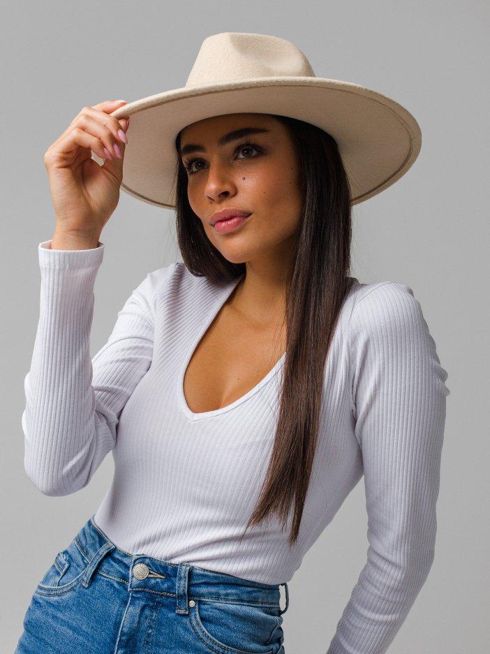 Béžový klobúk Mary
