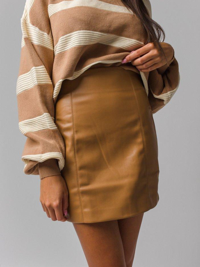 Hnedá sukňa Dienna