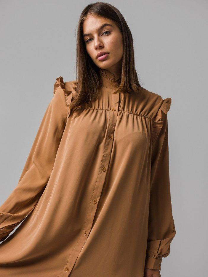 Hnedé šaty Ellisa