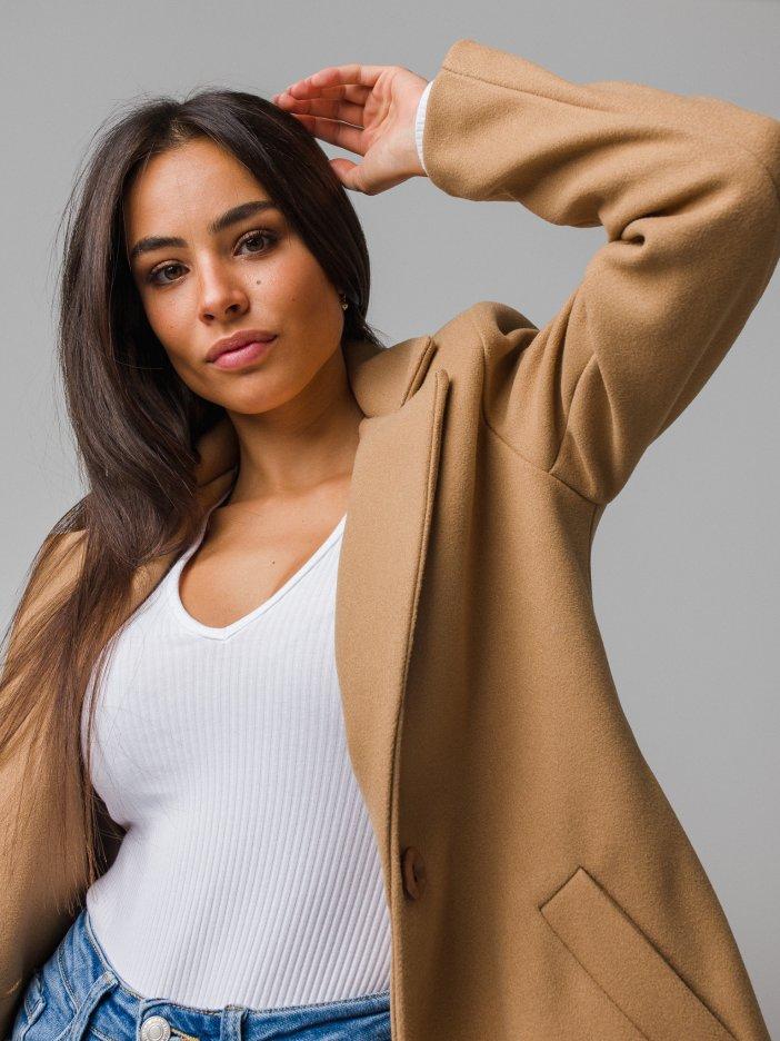 Hnedý kabát Josefine