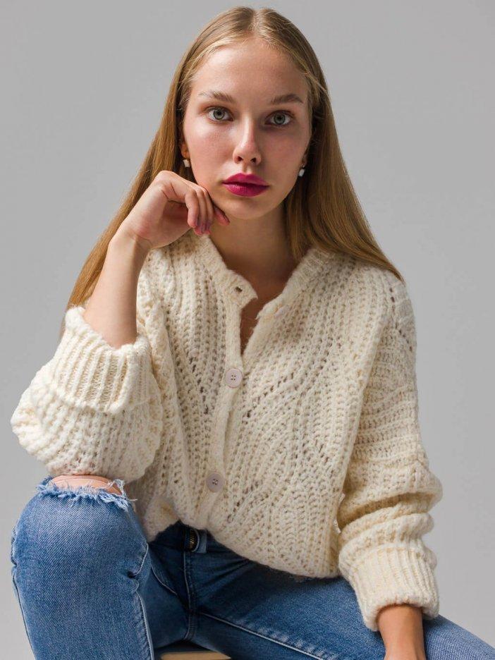 Smotanový sveter Emily