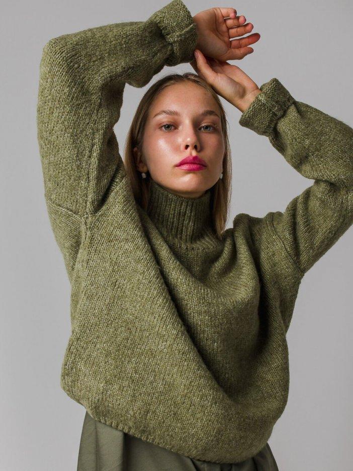 Zelený sveter Olive