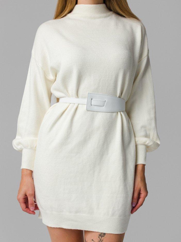 Biely kožený opasok Nora
