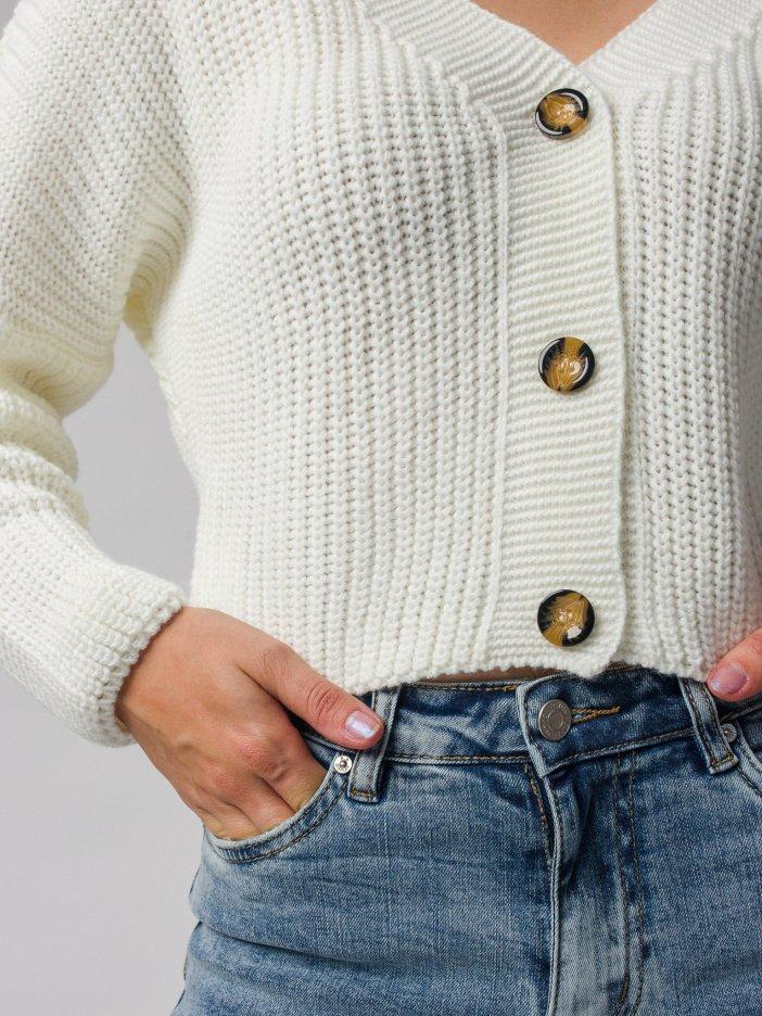 Biely sveter Laria