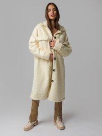 Biely teddy kabát Fletcher