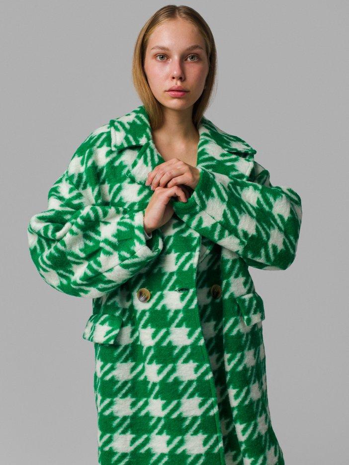 Zeleno-biely kabát Sheena